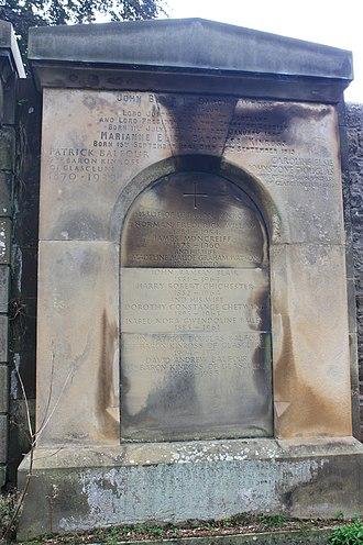 John Balfour, 1st Baron Kinross - Baron Kinross monument, Dean Cemetery