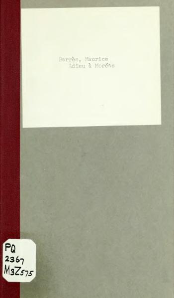 File:Barrès - Adieu à Moréas, 1910.djvu