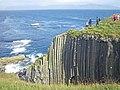 Basalt lined cove on the east coast of Staffa - geograph.org.uk - 1971599.jpg