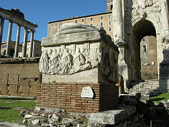 Five-Columns Monument - Remains of the Five-Columns Monument in the Roman Forum