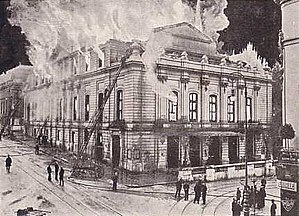 Theater Basel - Theater Basel's second theatre which was destroyed by fire in 1904 (postcard from 1904).