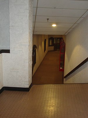 Lakeview Square - This basement walkway originally ran alongside a Venetian-themed restaurant.