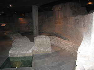 Santa Tecla, Milan - The ruins of the apse