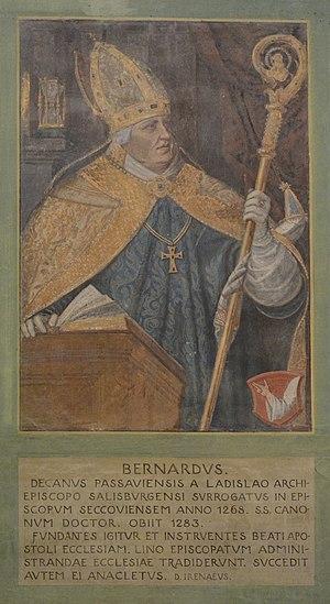 Basilika Seckau, Bischofskapelle, Halbfigurenportrait Bischof Wernhard von Marsbach.jpg