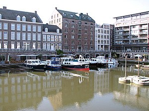 Bassin, Inner harbour in Maastricht, the Nethe...