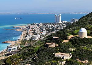 Bat Galim neighborhood and Haifa Bay