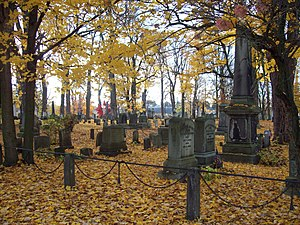 National Register of Historic Places listings in Genesee County, New York - Image: Batavia Cemetery General View Oct 09