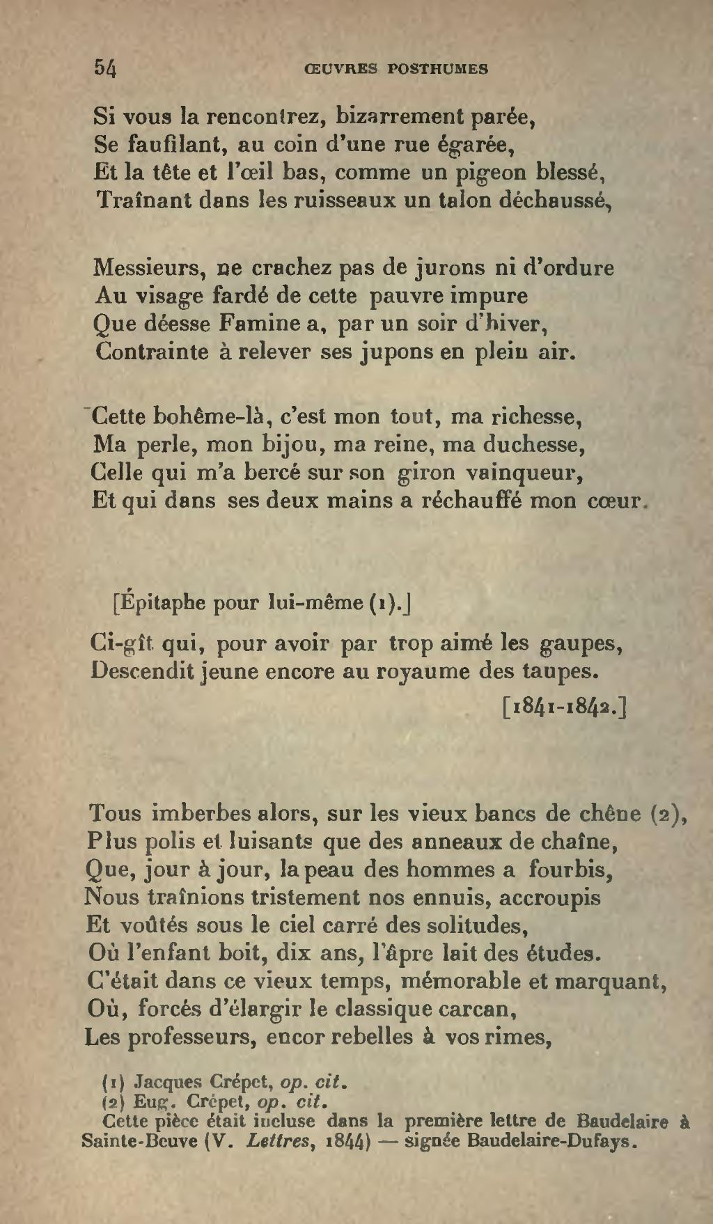 Page:Baudelaire - Œuvres posthumes 1908.djvu/58 - Wikisource