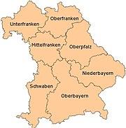 Administrative Regions of Bavaria