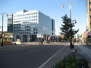 Bay Street (Hamilton, Ontario) - Federal Building, looking North