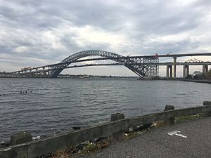 Bayonne Bridge - Late 2016, with both old deck and new