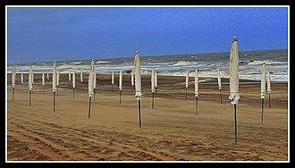 Pinamar Partido - Beach umbrellas at Cariló