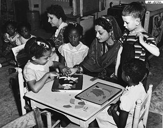 Ra'ana Liaquat Ali Khan - Begum Liaquat Ali Khan touring New York's Children's Centre