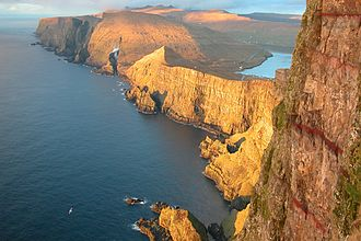 Geography of the Faroe Islands - View of the west coast of Suðuroy