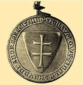 Coat of arms of Hungary - Image: Bela 4 pecet 1