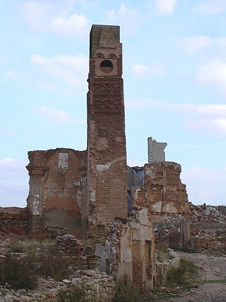 Campo de Belchite - Ruins of Belchite old village