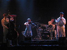 Bell Orchestre perform in Montreal in July 2006.