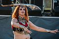 Belly dancer doing the sword dance at the 2012 Las Vegas Age of Chivalry (8104145013).jpg