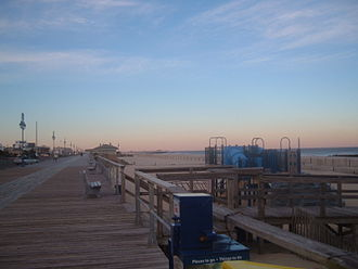 Belmar, New Jersey - Boardwalk in Belmar