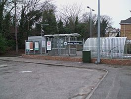 Belmont station entrance.JPG