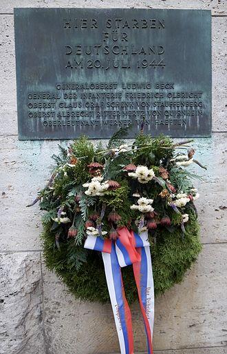 Memorial to the German Resistance - Image: Bendlerblock memorial