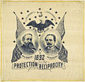 "Benjamin Harrison-Reid ""Protection - Reciprocity"" Portrait Handkerchief, 1892 (4360269450).jpg"