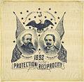 """Benjamin Harrison-Reid """"Protection - Reciprocity"""" Portrait Handkerchief, 1892 (4360269450).jpg"""