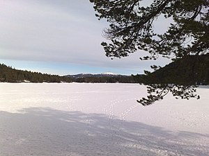 Benna (lake) - View of the lake in winter