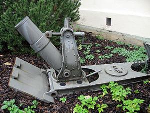 14 cm Minenwerfer M 15 - M 16 model at the Tiroler Kaiserjägermuseum, Innsbruck, Austria