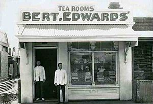 Bert Edwards (politician) - Tea rooms Compton Street, Adelaide 1912