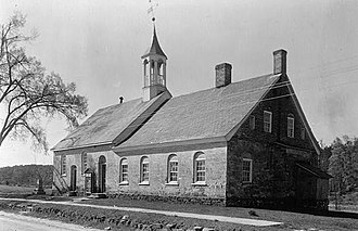 Bethabara Historic District - Bethabara Moravian Church in 1934