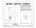 Bethel Baptist Church, 224 North Boulevard, Tallahassee, Leon County, FL HABS FLA,37-TALA,8- (sheet 1 of 4).png