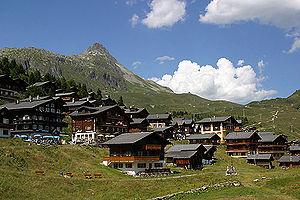 Bettmeralp - Bettmeralp village and Bettmerhorn
