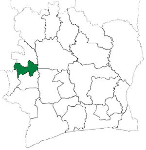 Biankouma Department - Biankouma Department upon its creation in 1969. It kept these boundaries until 2012, but other departments began to be divided in 1974.