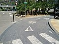 Bicycle mixing zone (18617631505).jpg