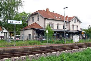 Landau–Rohrbach railway - Bierbach station building opened in 1867