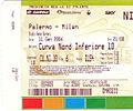 Biglietto Palermo-Milan (3-0) del 25 gennaio 2006.jpg