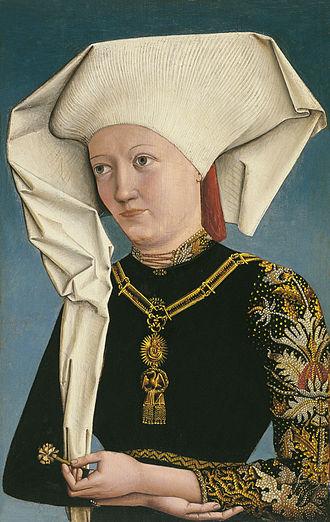 Hemma of Gurk - Image: Bildnis einer Dame mit dem Schwanenorden, unbekannter deutscher Maler (1490)