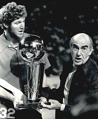 Bill Walton - Walton and Jack Ramsay holding the 1977 NBA Championship Trophy