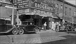 Biograph Theater - 1934 FBI photograph of the Biograph, soon after the shooting of Dillinger