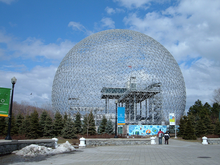 Biosfera a Montreal costruita per l'Expo del 1967
