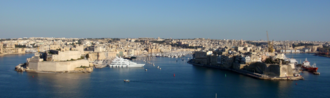 Three Cities - View of the Three Cities from Valletta.