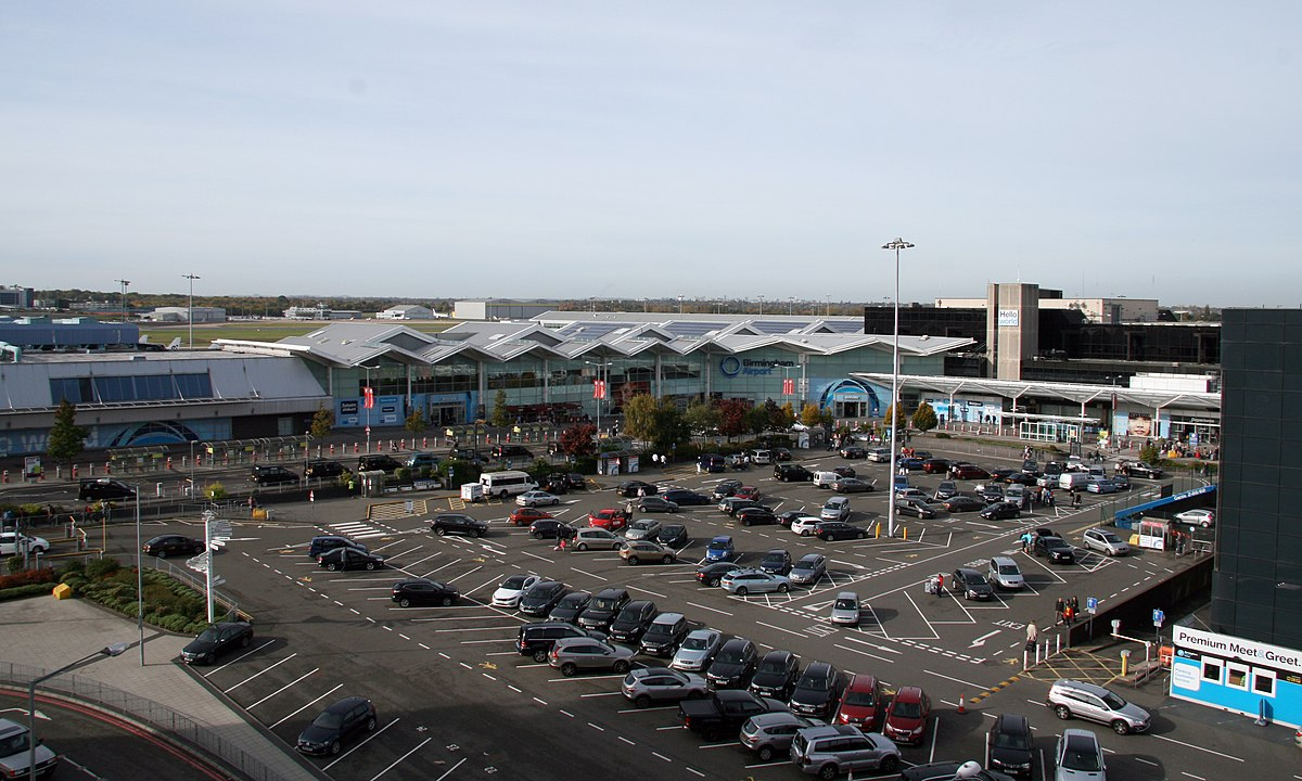 Birmingham airport wikipedia for Location parking