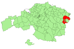 Location o Markina-Xemein in Bizkaia.