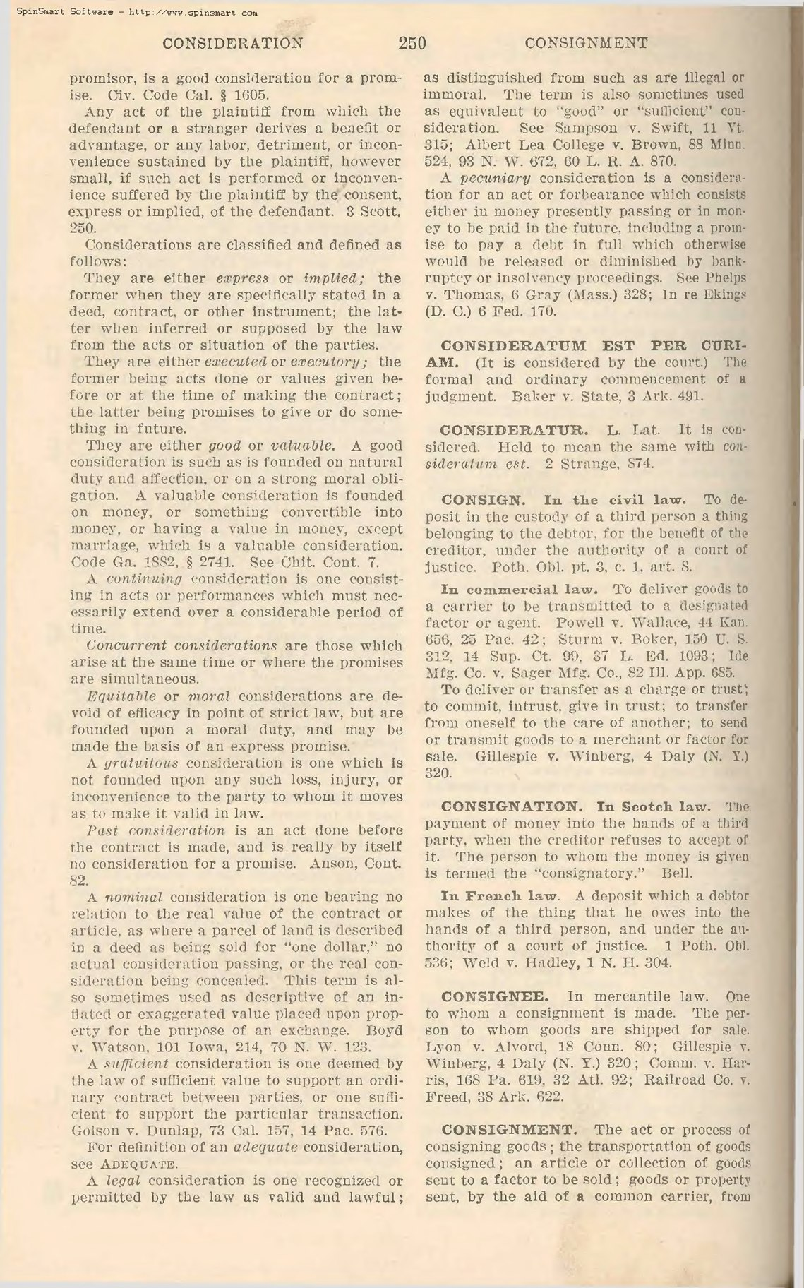 PageBlacks Law Dictionary Second Editiondjvu258 Wikisource – Consignment Legal Definition