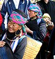 Black H'mong family – Grandmother, mother, grandson- Sapa Vietnam-1.JPG