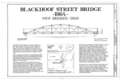 Blackhoof Street Bridge, Spanning Miami-Erie Canal, New Bremen, Auglaize County, OH HAER OHIO,6-NEWBR,1- (sheet 1 of 3).png