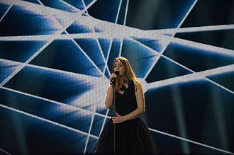Blanche (singer) - Blanche during Eurovision rehearsals.