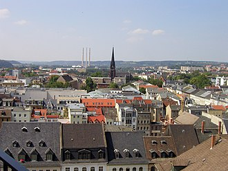 Gera - Image: Blick vom Rathausturm über Gera