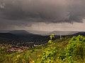 Blick von der Leuchtenburg auf das mittlere Saaletal bei Gewitter.JPG